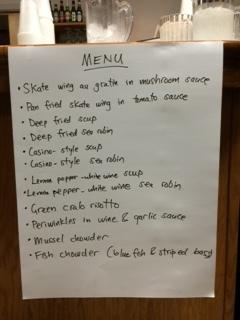 Menu Eating EcoSystem