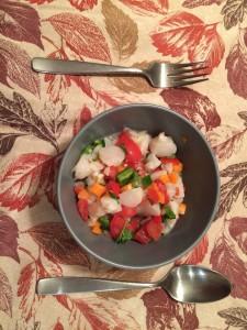 Bay scallop ceviche