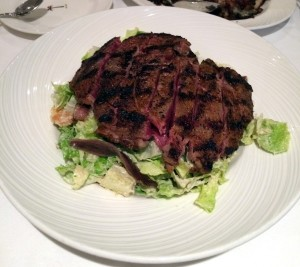 Ribeye with Caesar salad at The Palm